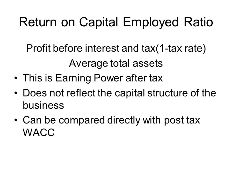 Return on Capital Employed Ratio