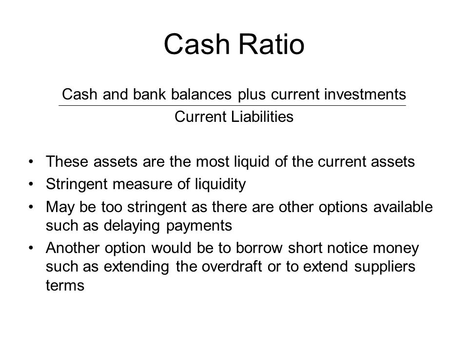 Cash and bank balances plus current investments
