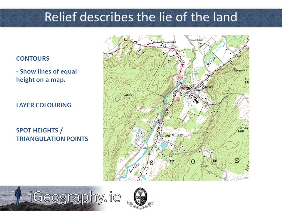 Relief describes the lie of the land