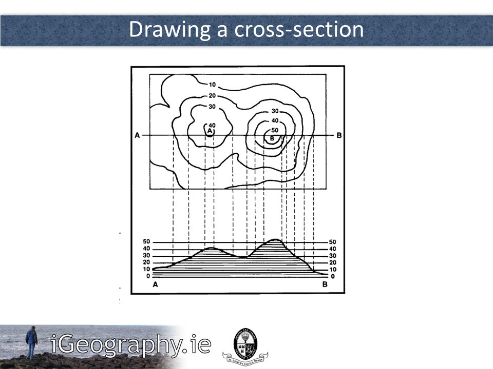 Drawing a cross-section