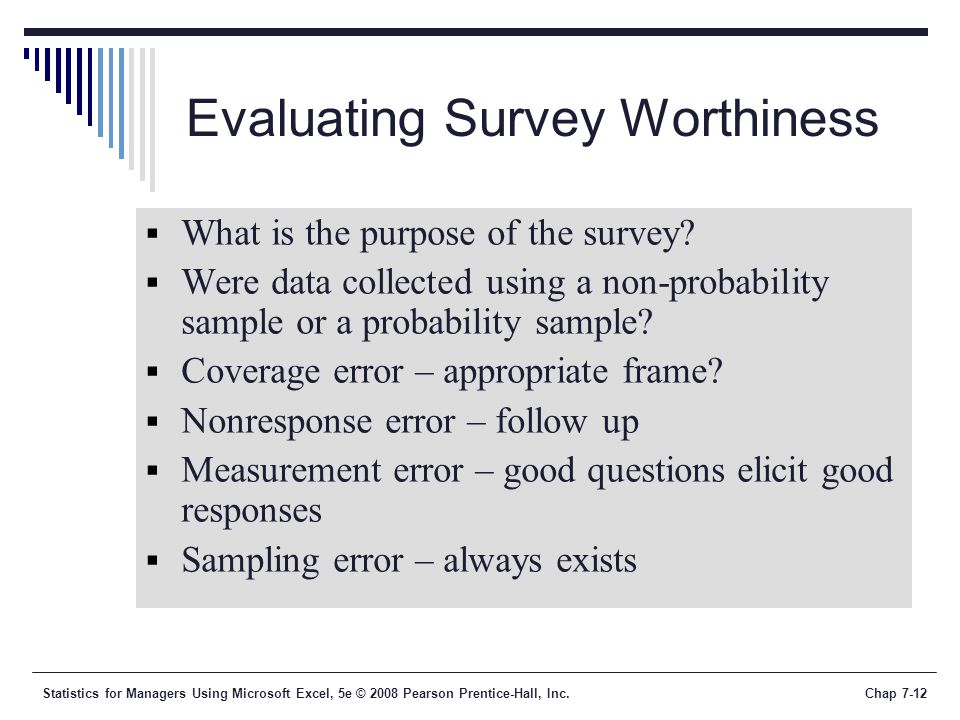 Evaluating Survey Worthiness