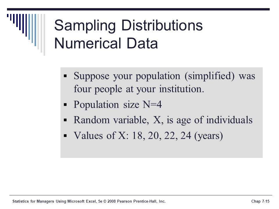 Sampling Distributions Numerical Data