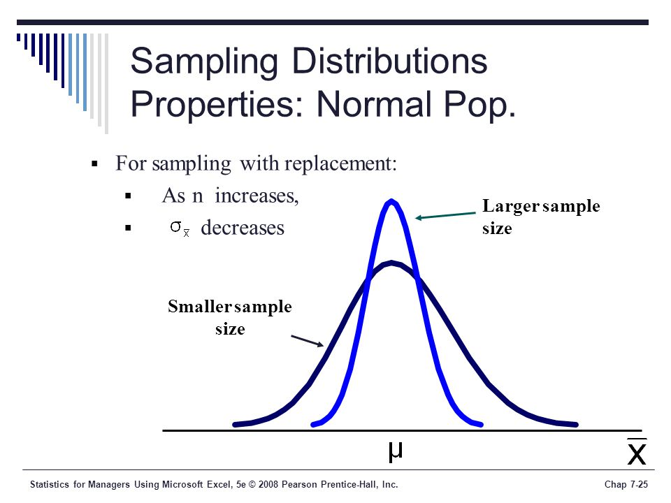 Sampling Distributions Properties: Normal Pop.