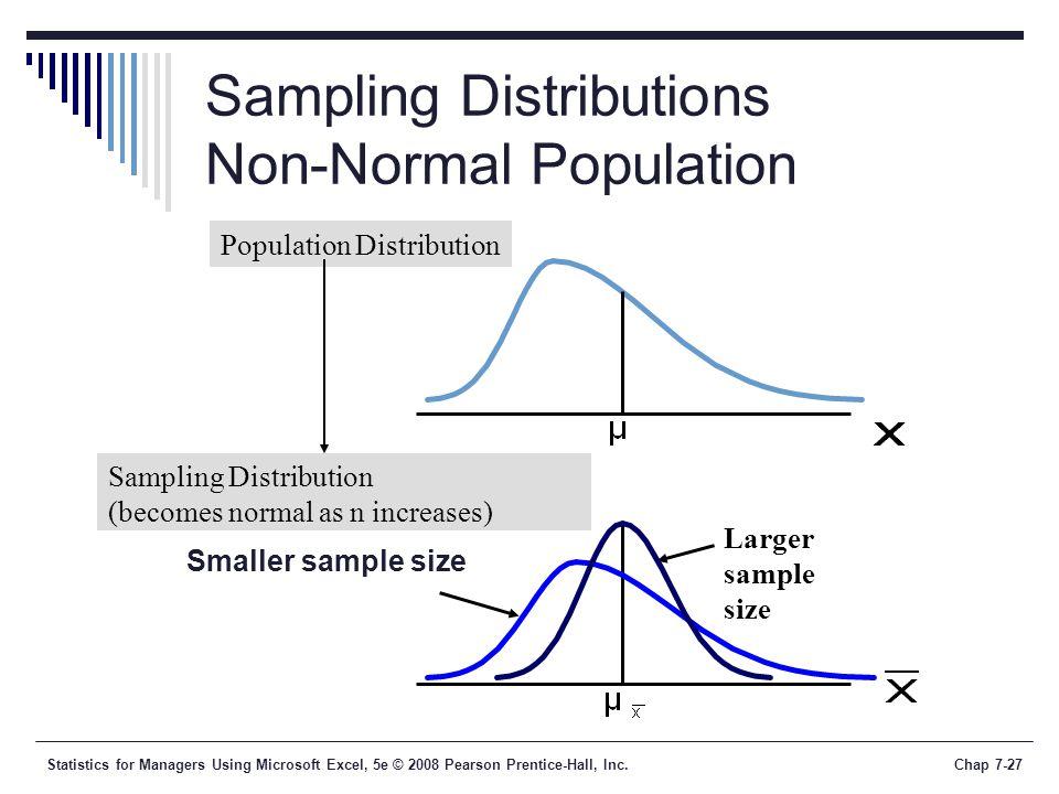 Sampling Distributions Non-Normal Population