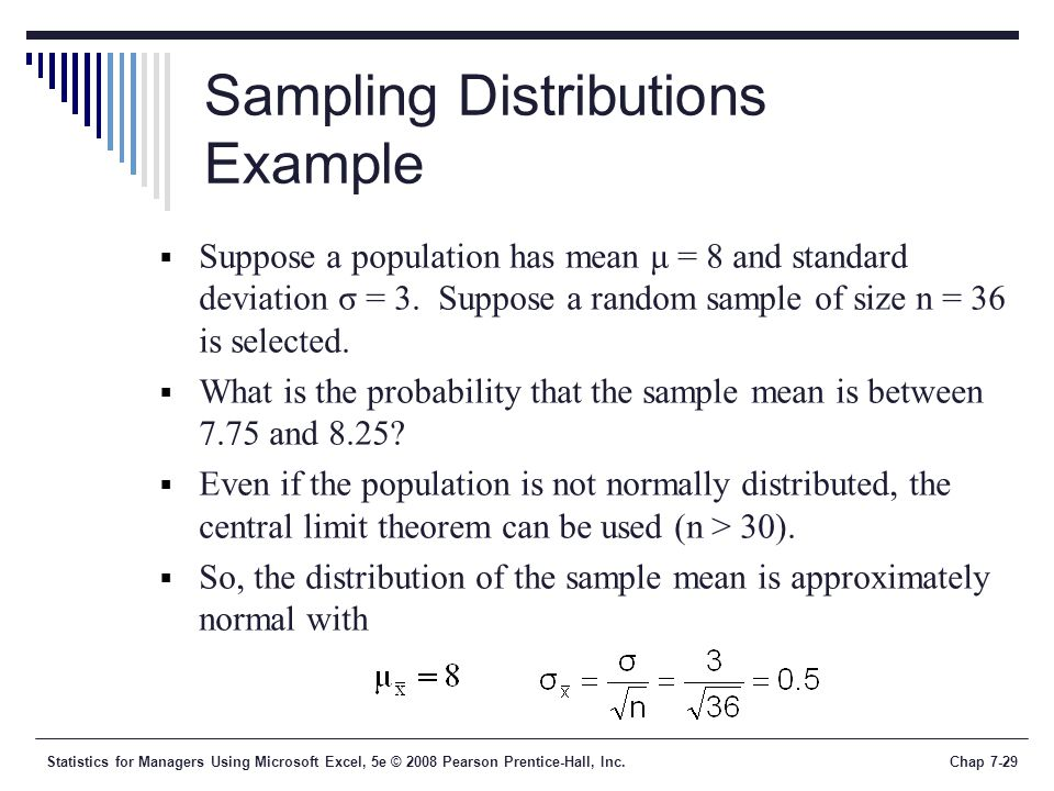 Sampling Distributions Example