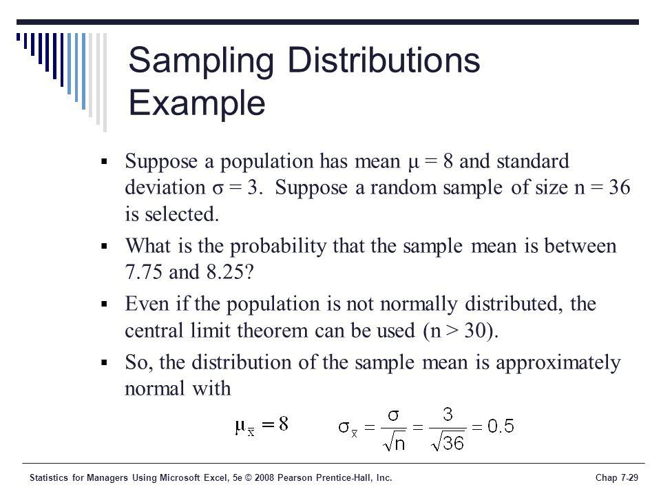 Sampling Distributions Example
