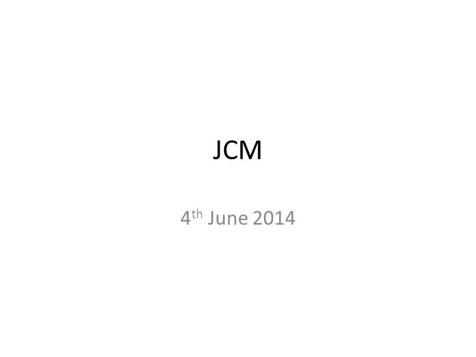 JCM 4th June 2014
