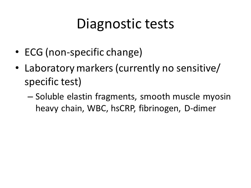 Diagnostic tests ECG (non-specific change)