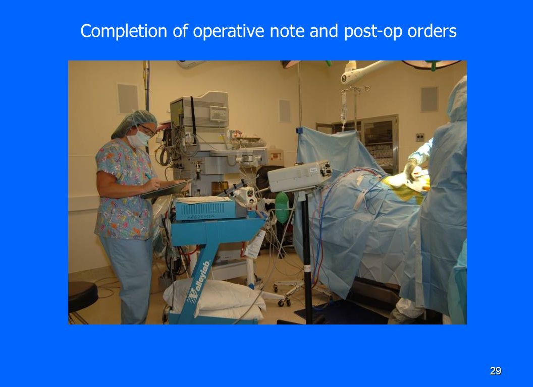Completion of operative note and post-op orders