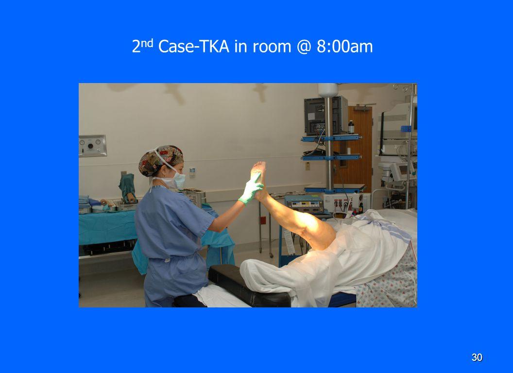 2nd Case-TKA in room @ 8:00am
