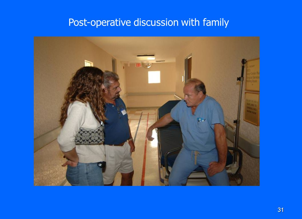 Post-operative discussion with family