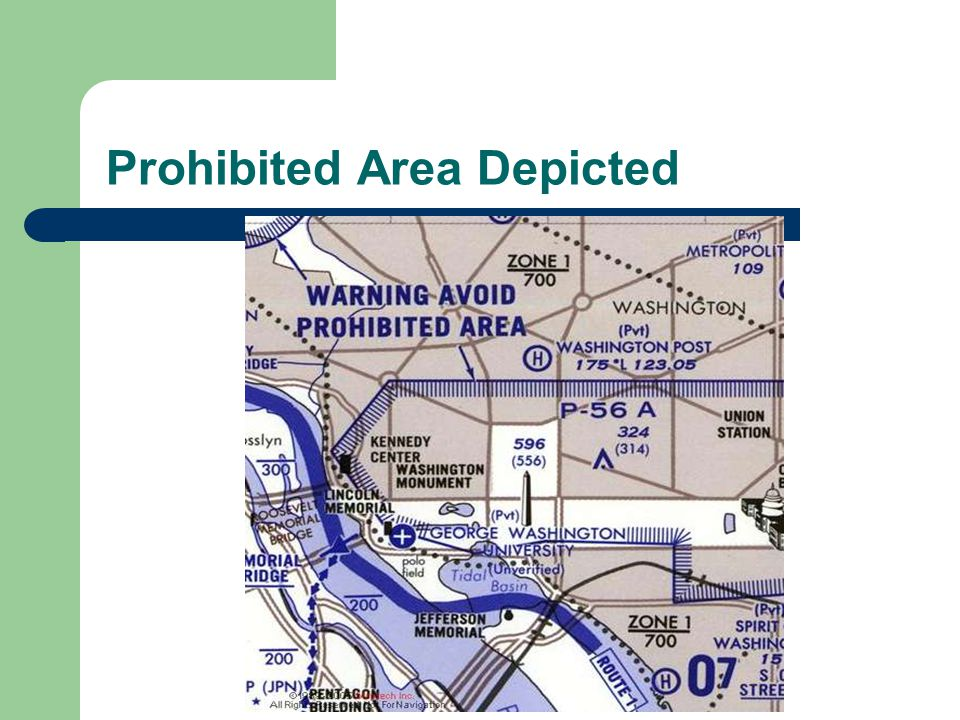 Prohibited Area Depicted
