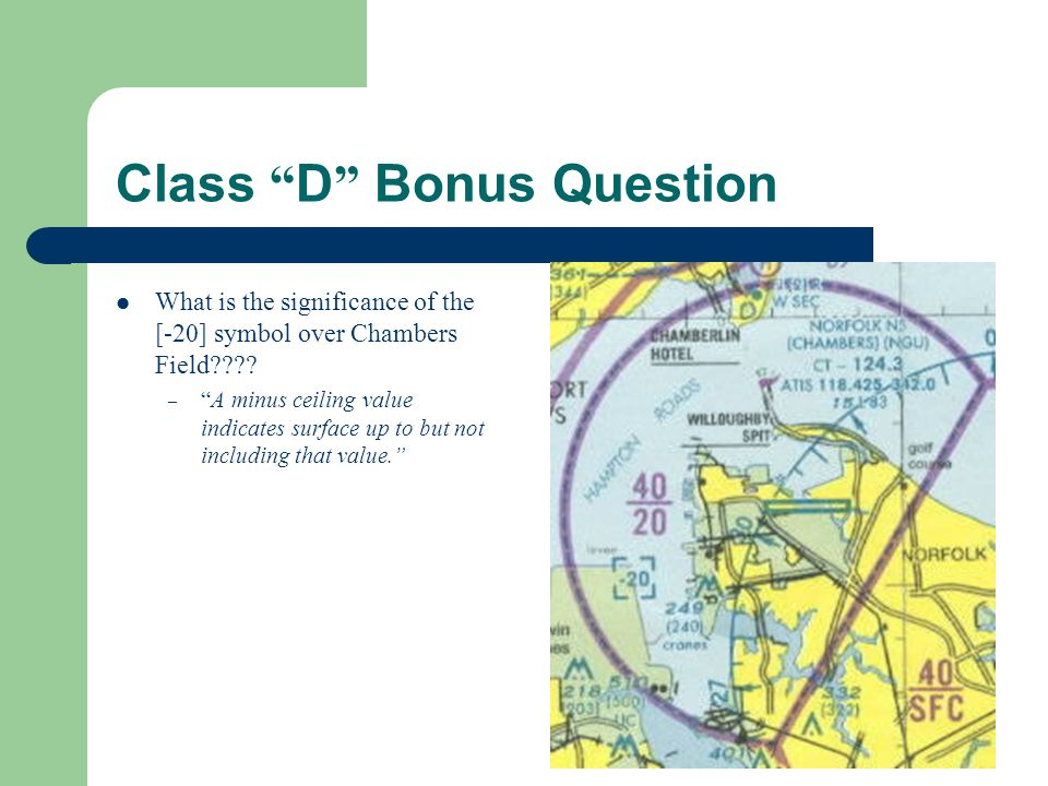 Class D Bonus Question