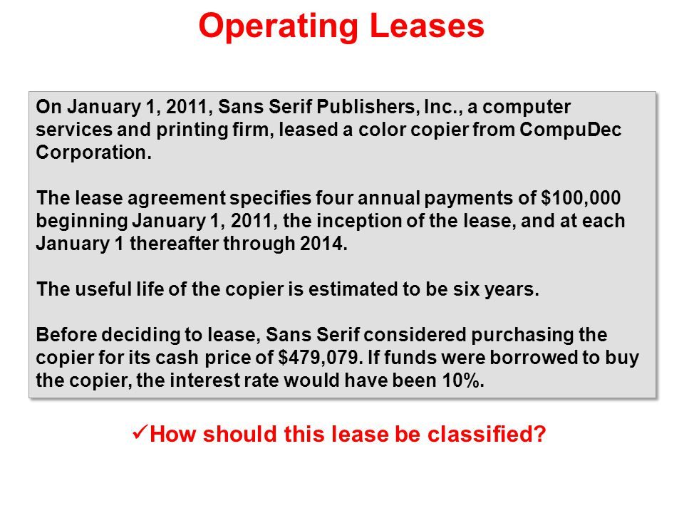 How should this lease be classified