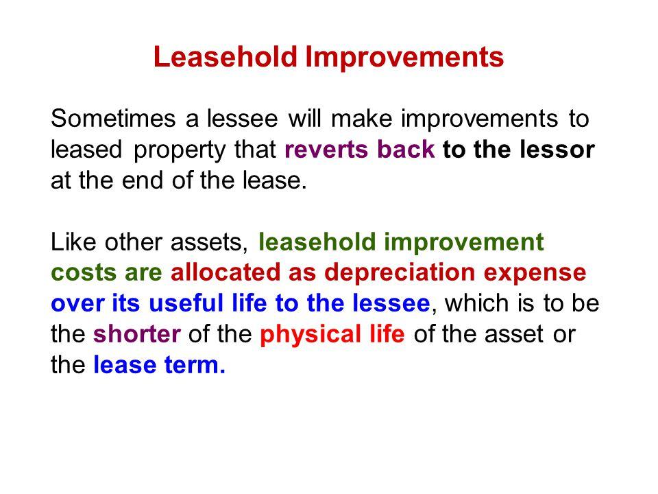 Leasehold Improvements