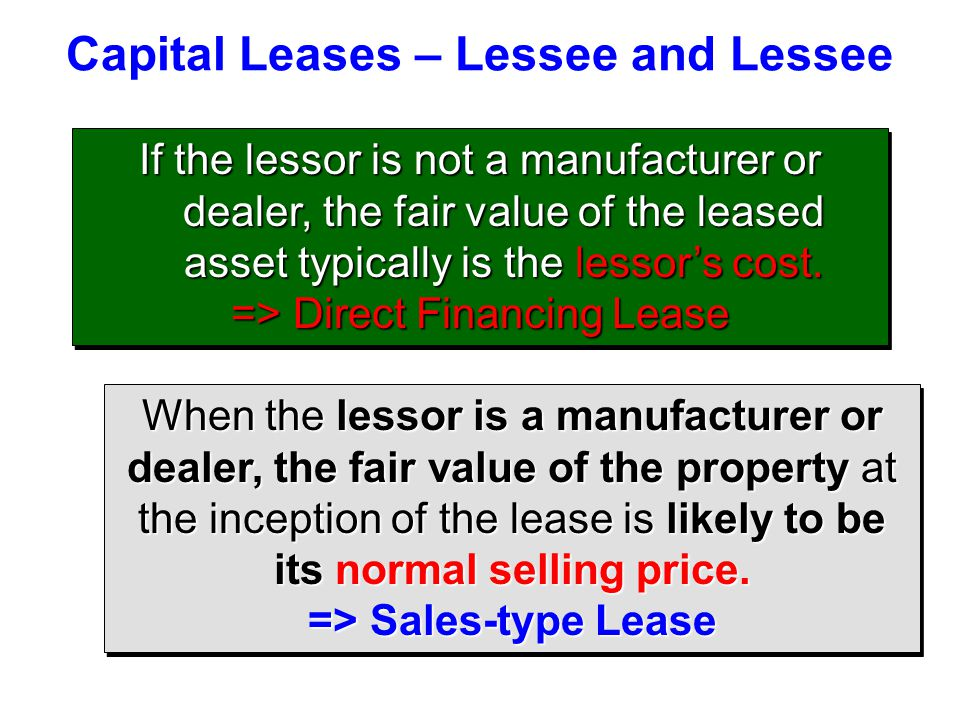 Capital Leases – Lessee and Lessee