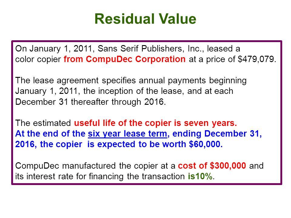Residual Value
