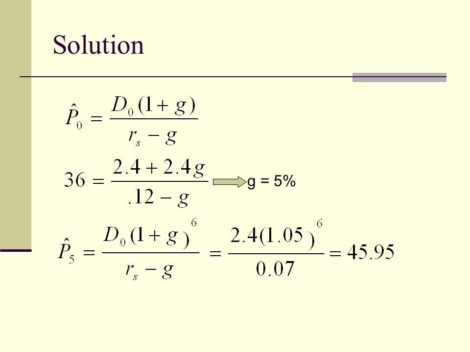 Solution g = 5%