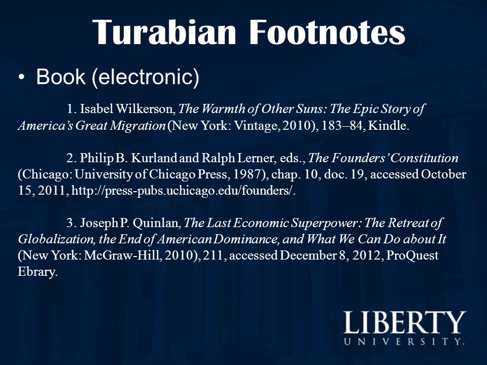 Turabian Footnotes Book (electronic)