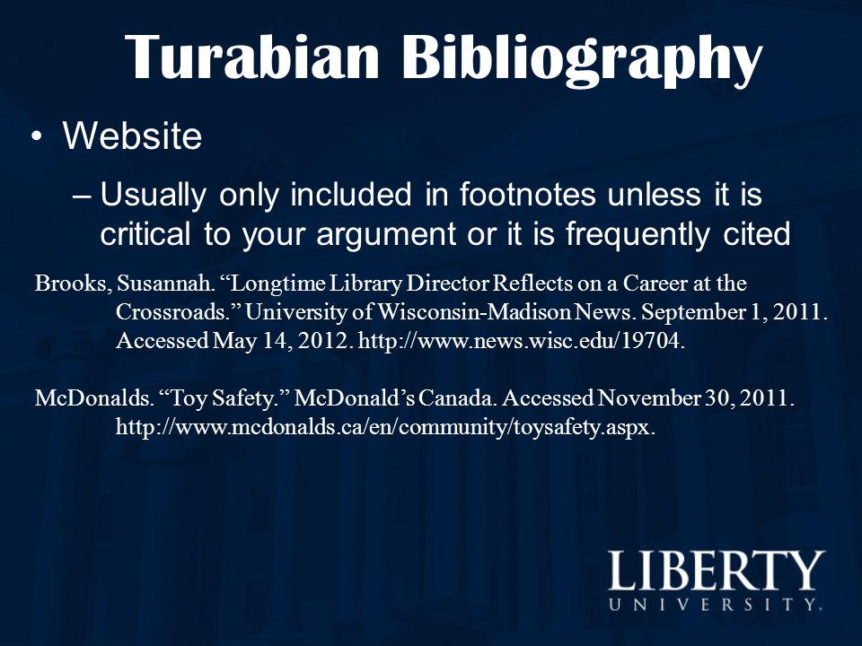 Turabian Bibliography