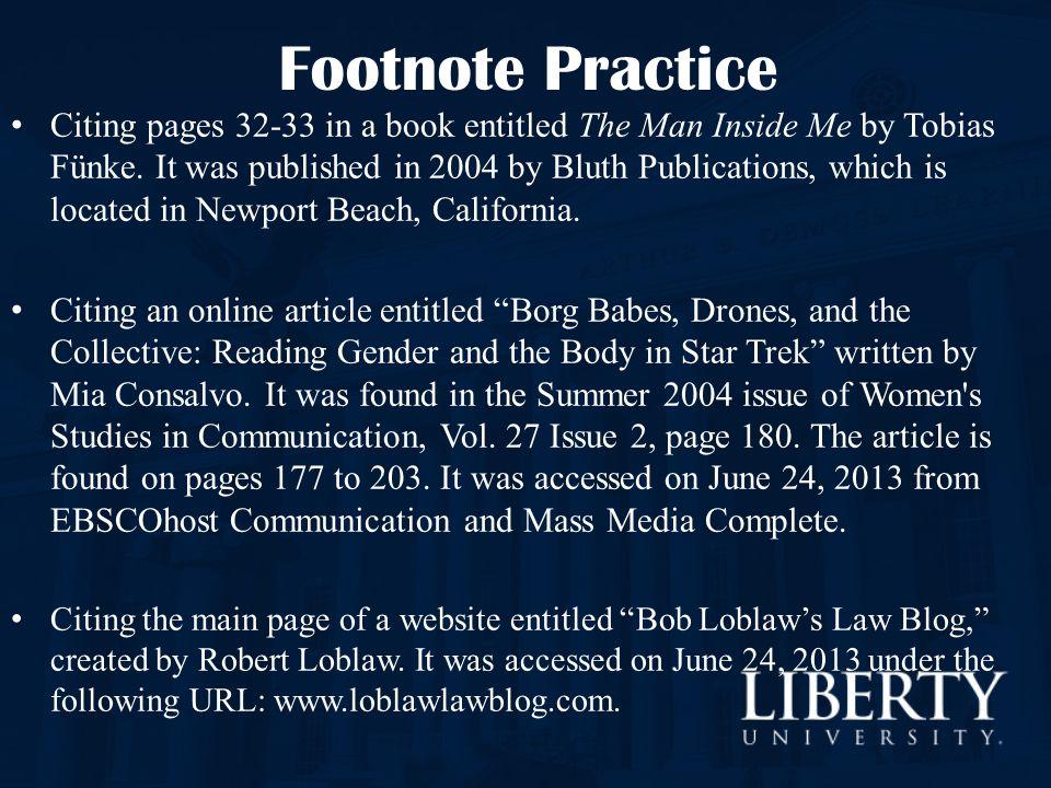 Footnote Practice