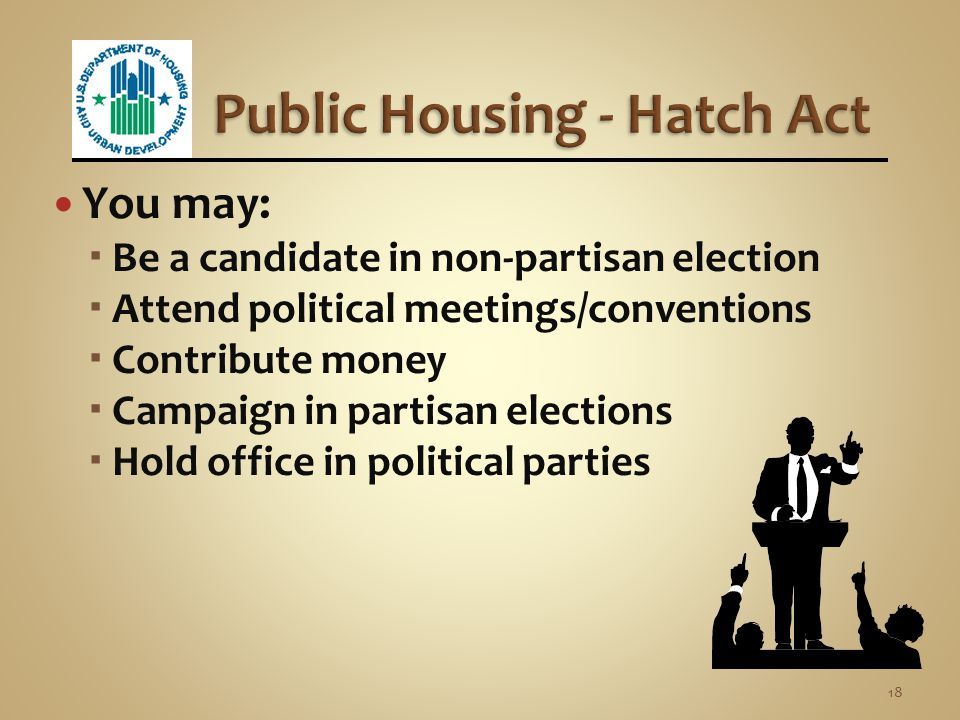 Public Housing - Hatch Act