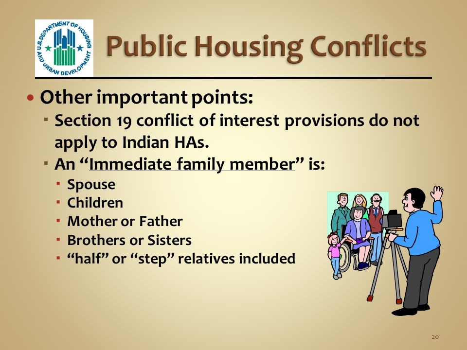 Public Housing Conflicts