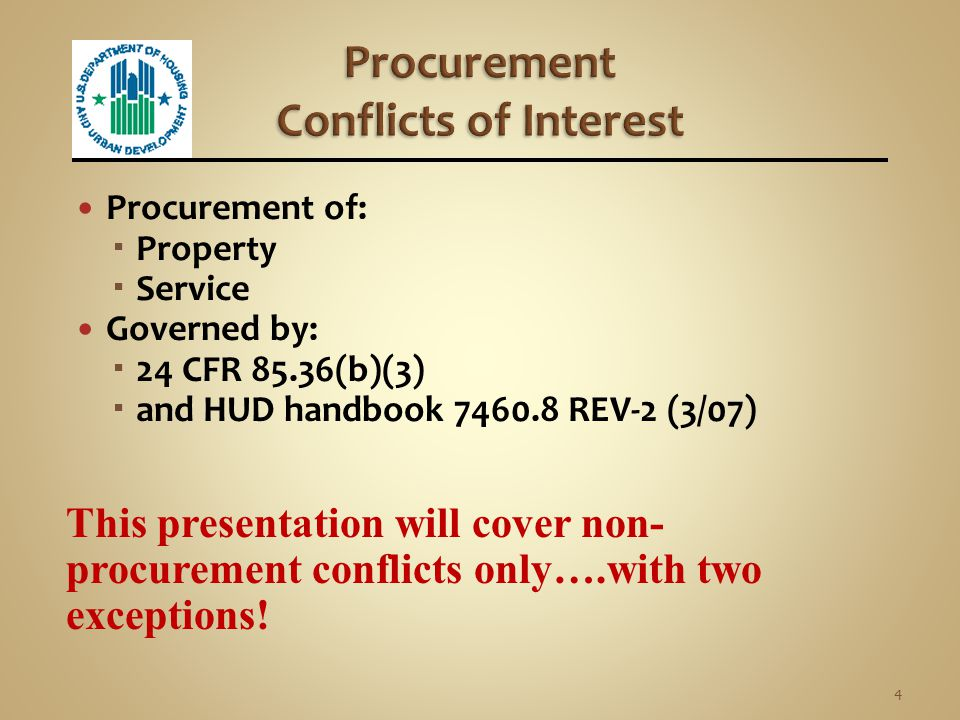 Procurement Conflicts of Interest