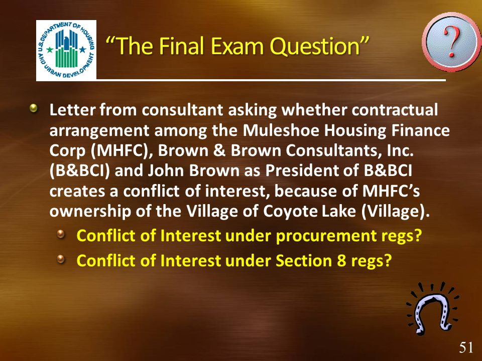 The Final Exam Question