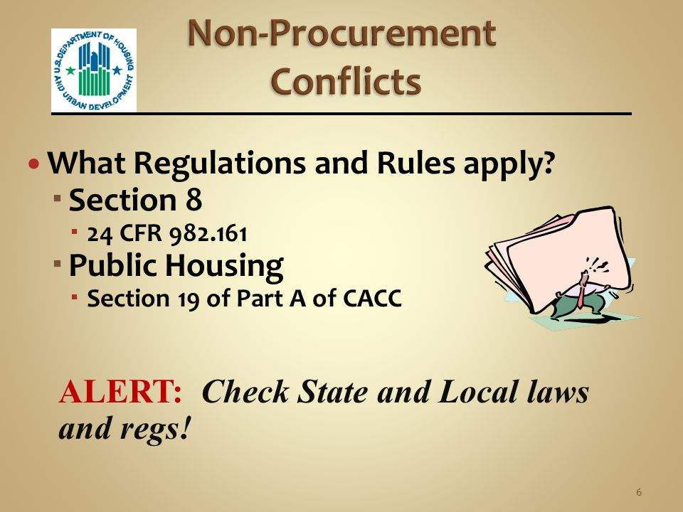 Non-Procurement Conflicts