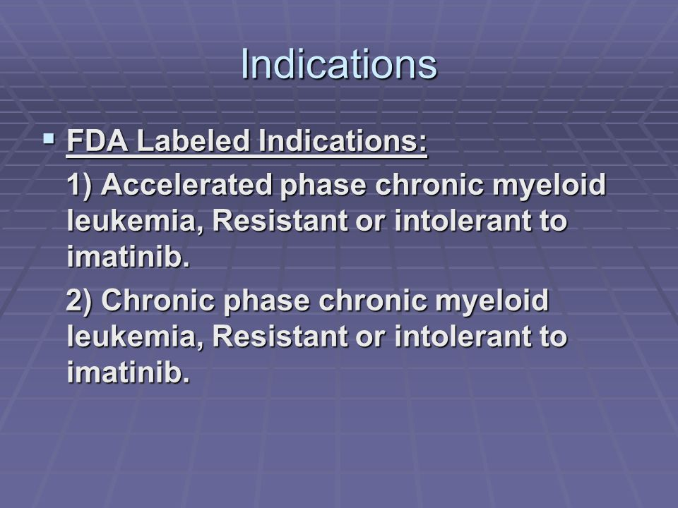 Indications FDA Labeled Indications: