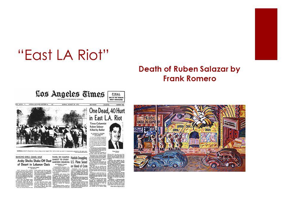 Death of Ruben Salazar by Frank Romero