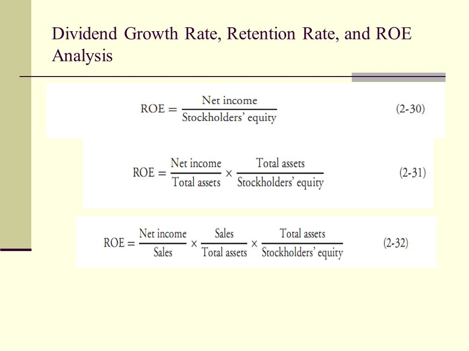 Dividend Growth Rate, Retention Rate, and ROE Analysis