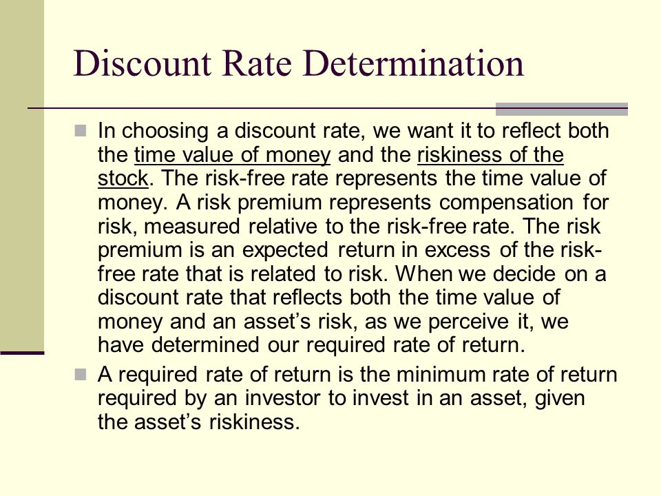 Discount Rate Determination