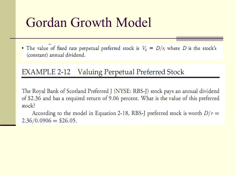 Gordan Growth Model