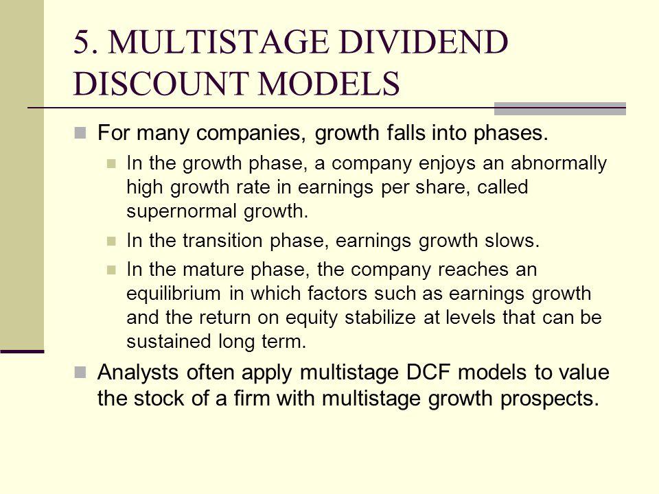5. MULTISTAGE DIVIDEND DISCOUNT MODELS