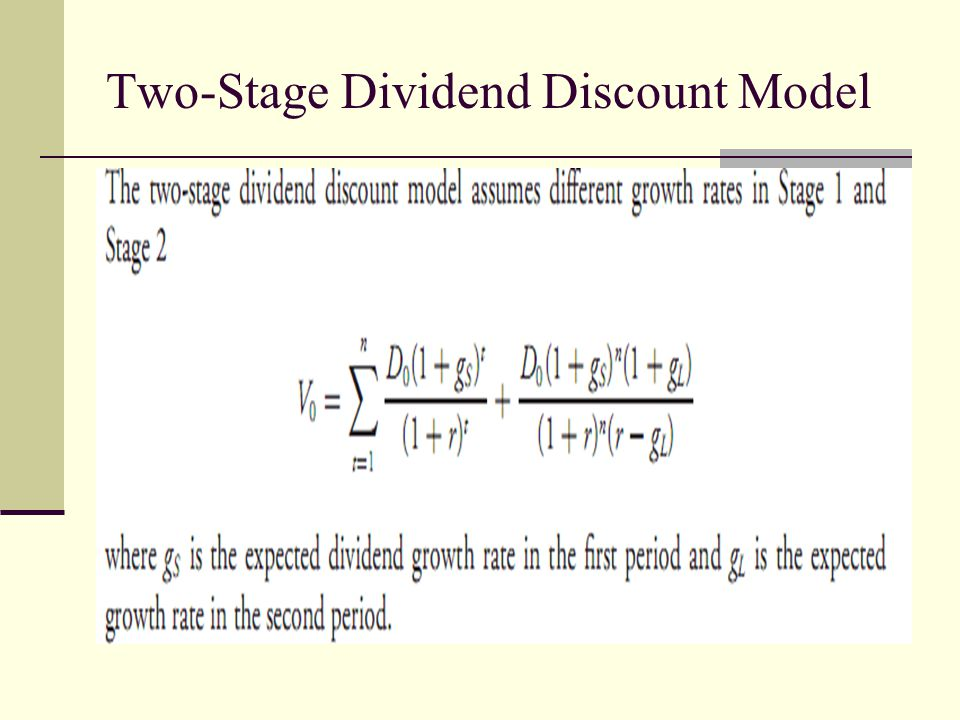 Two-Stage Dividend Discount Model