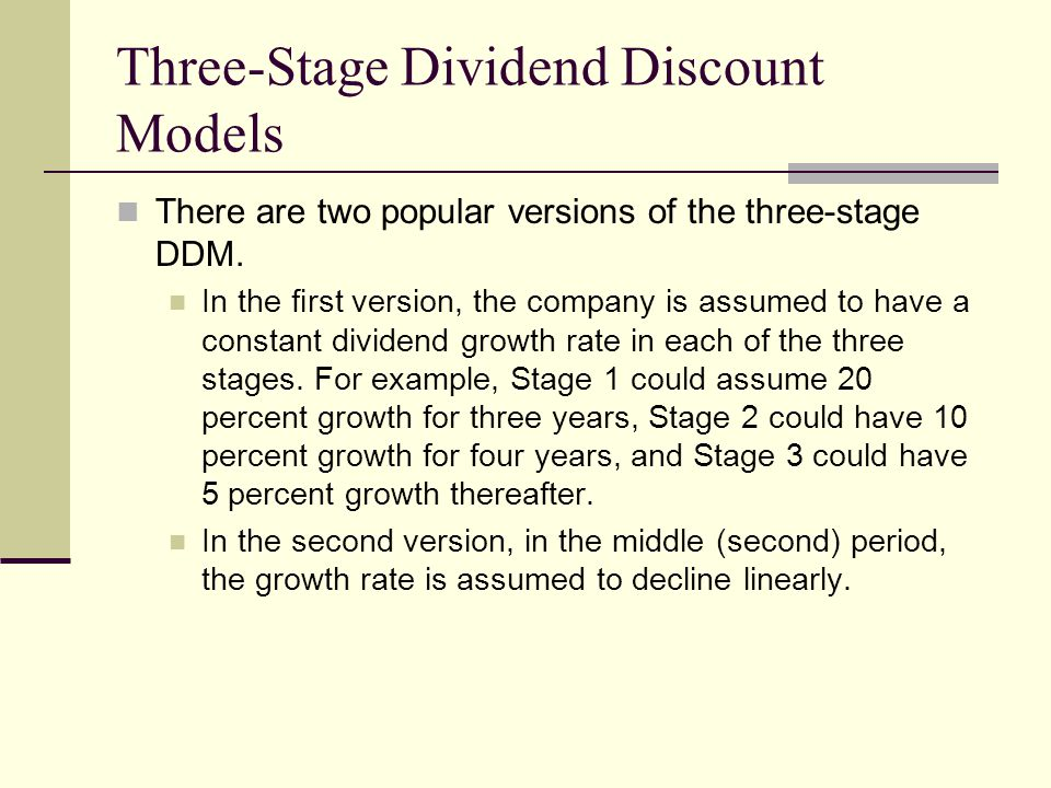 Three-Stage Dividend Discount Models