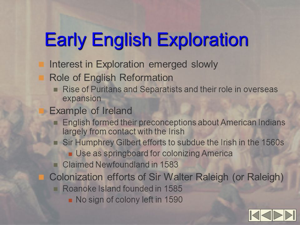 Early English Exploration