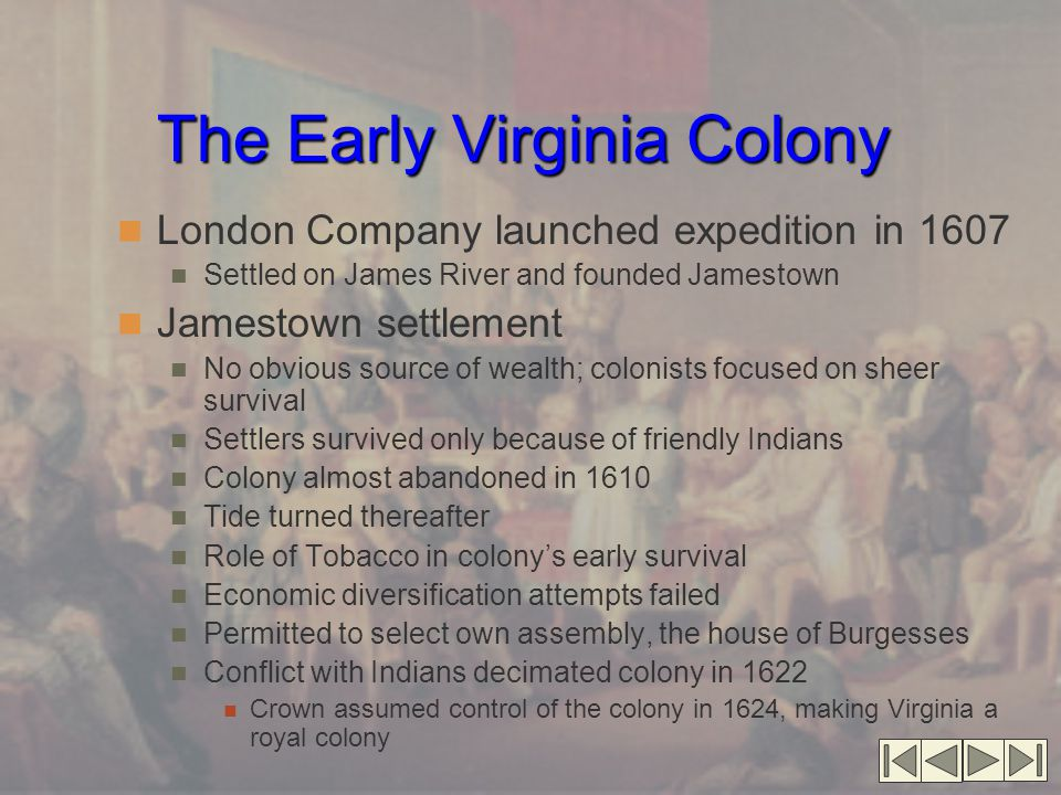 The Early Virginia Colony