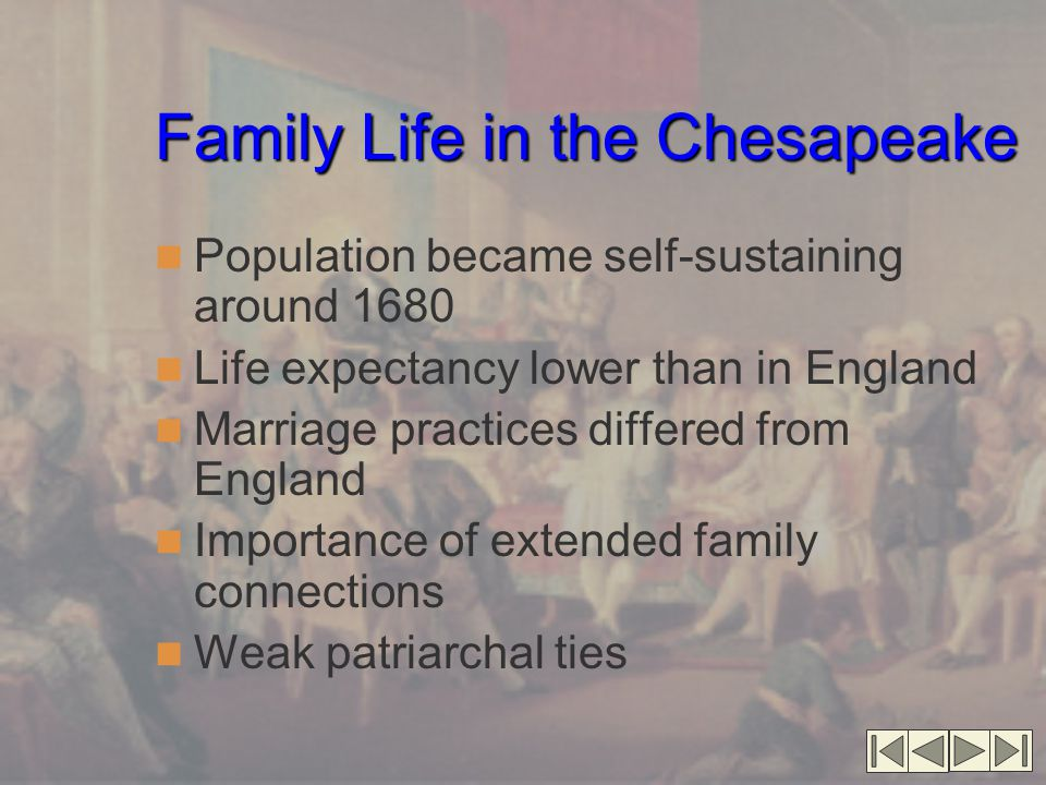 Family Life in the Chesapeake