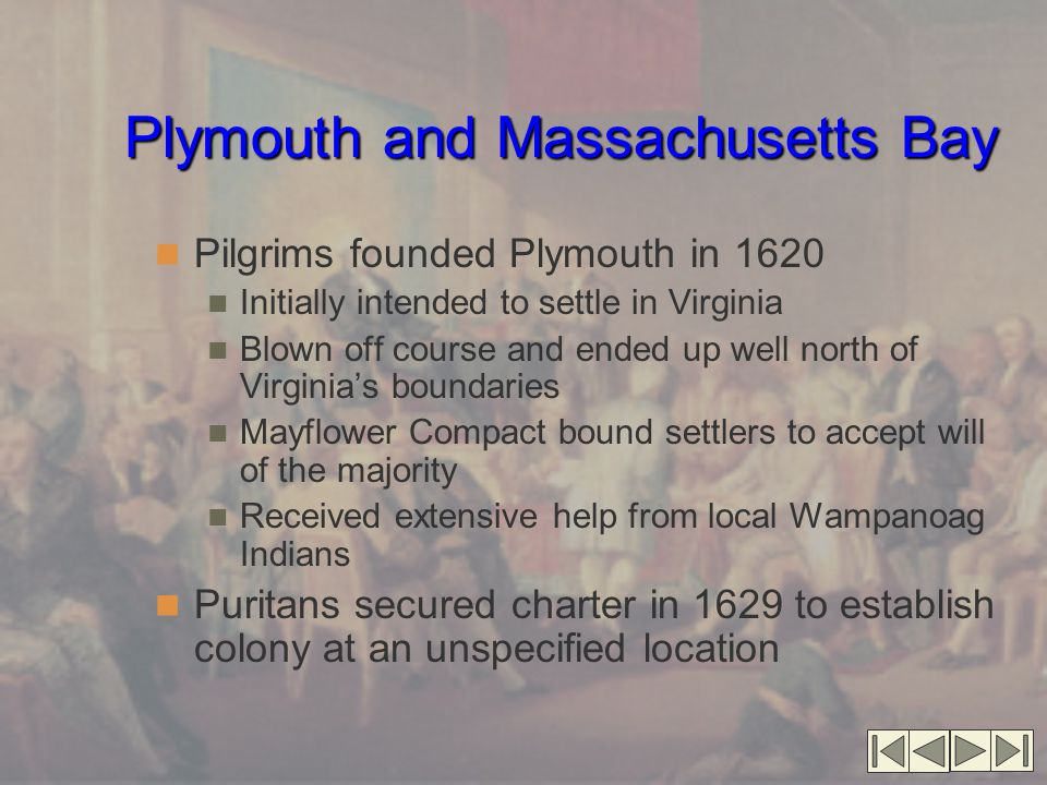 Plymouth and Massachusetts Bay