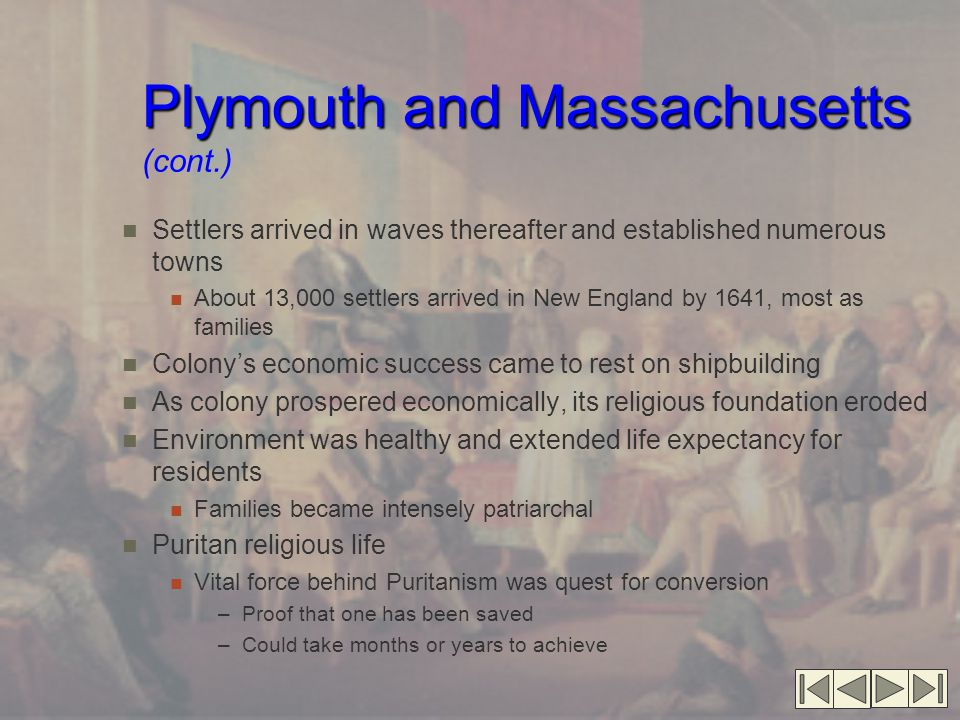 Plymouth and Massachusetts (cont.)