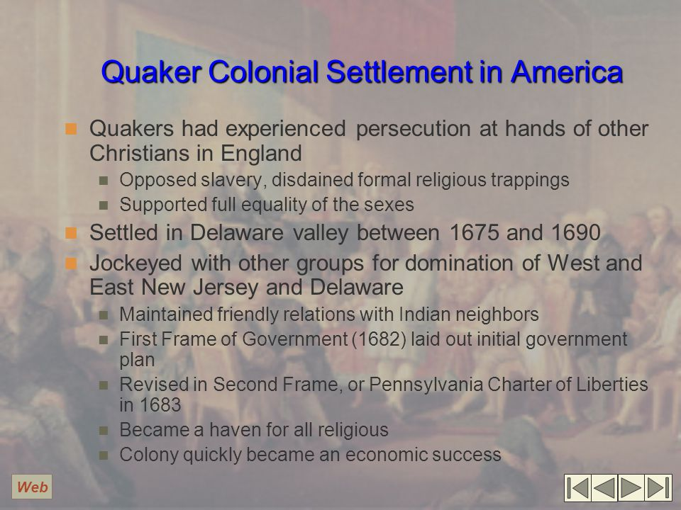 Quaker Colonial Settlement in America