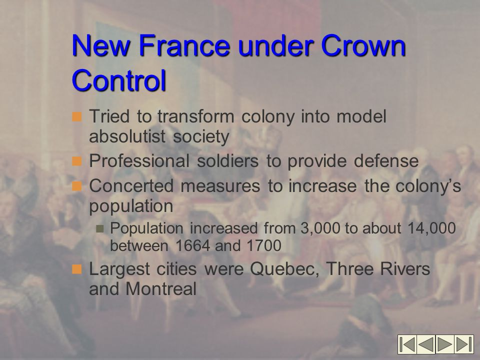 New France under Crown Control