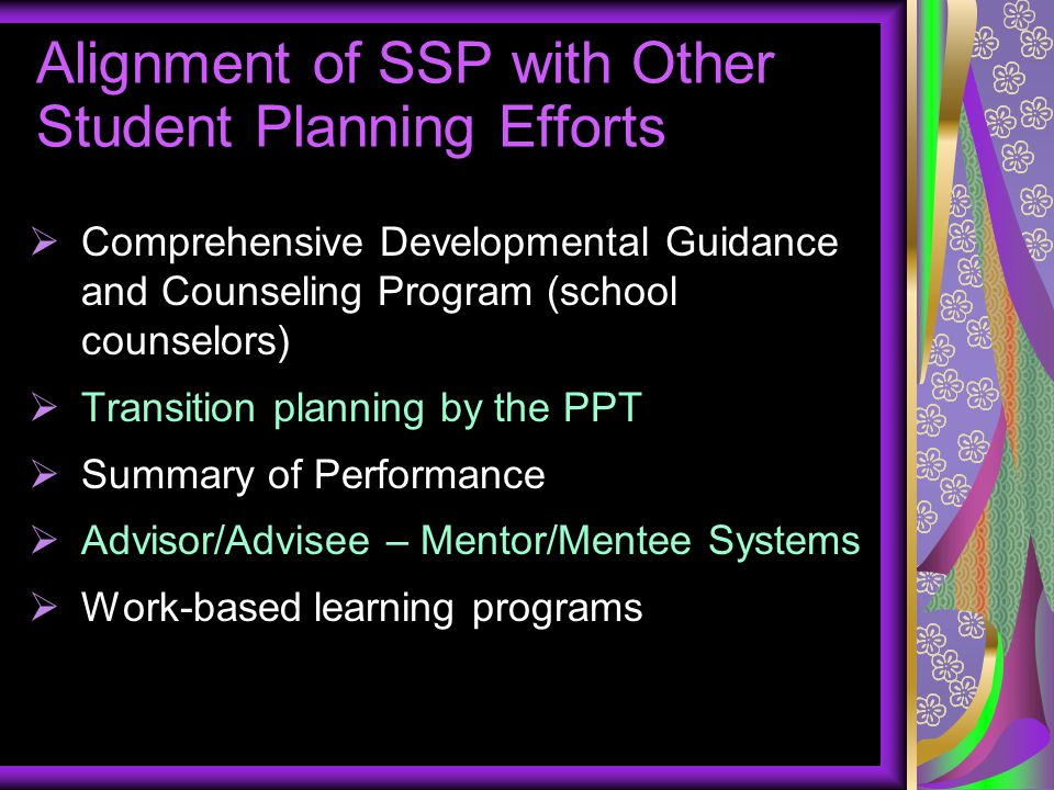 Alignment of SSP with Other Student Planning Efforts