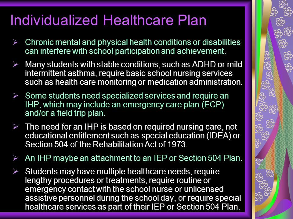 Individualized Healthcare Plan