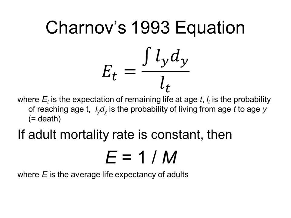 Charnov's 1993 Equation
