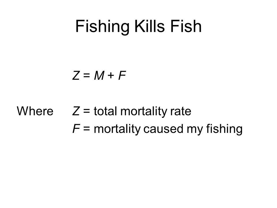 Fishing Kills Fish Z = M + F Where Z = total mortality rate
