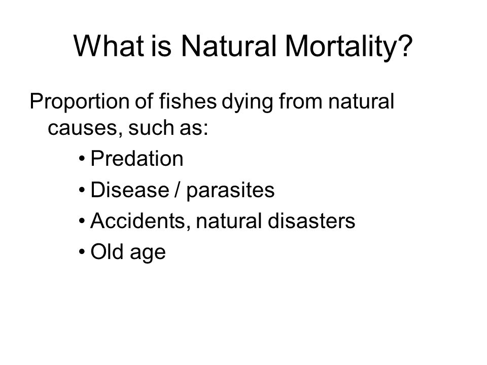 What is Natural Mortality